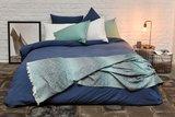Stonewashed percale blauw_