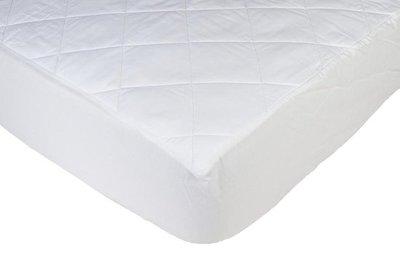 Gewatteerde matrasbeschermer katoen